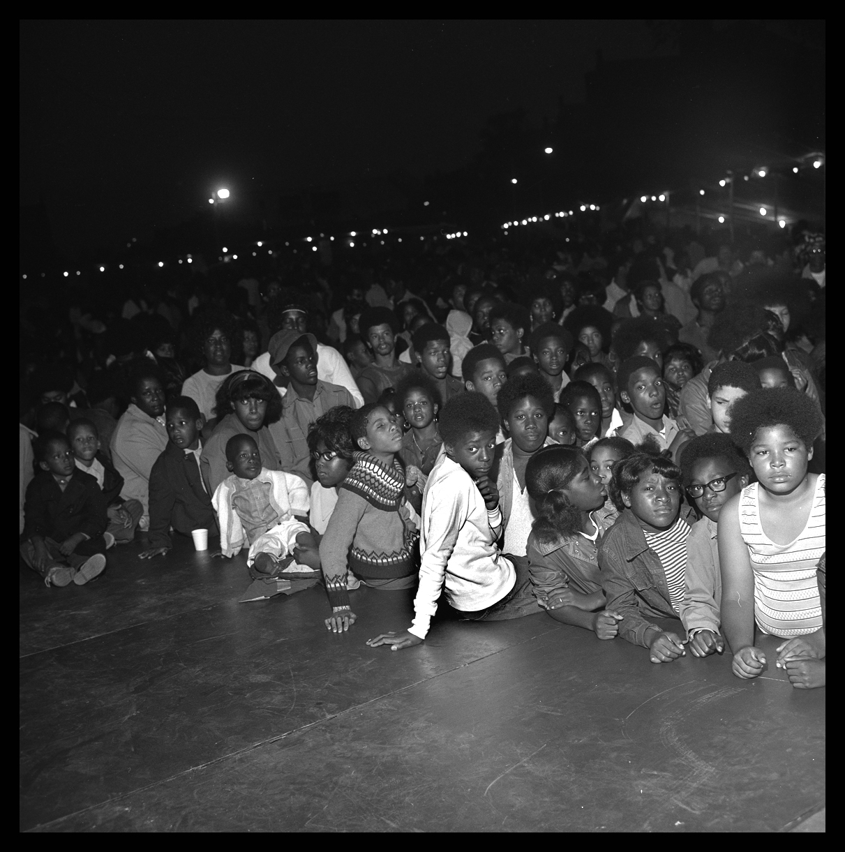 Crowd for James Brown c.1965 from original 2.25 negative