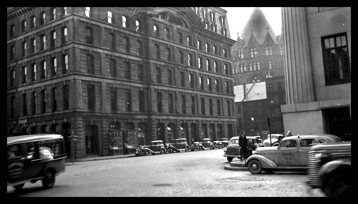 State St, Boston Mass. c.1940 from original 4x5 negative