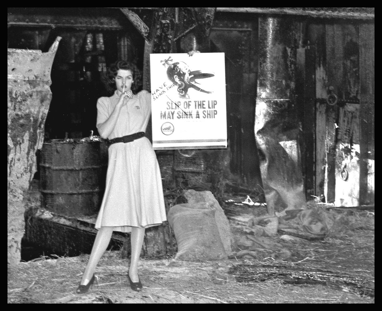 Jane Russel Doing a WW2 PSA  c.1943 from original 4x5 negative