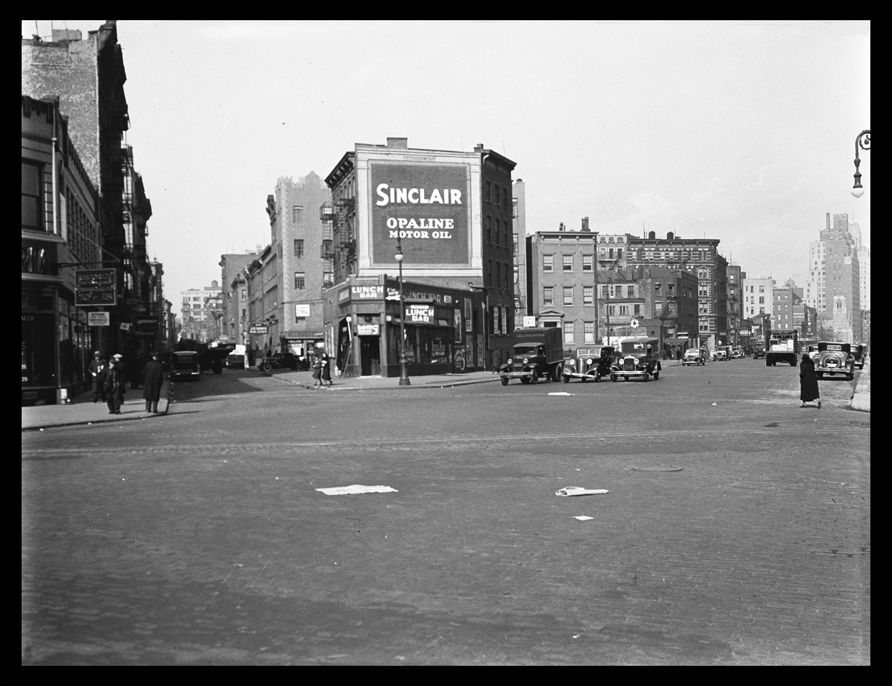Vintage Christopher St, West 4th st at 7th Ave West Village, NYC c.1933 from original 4x5 negative