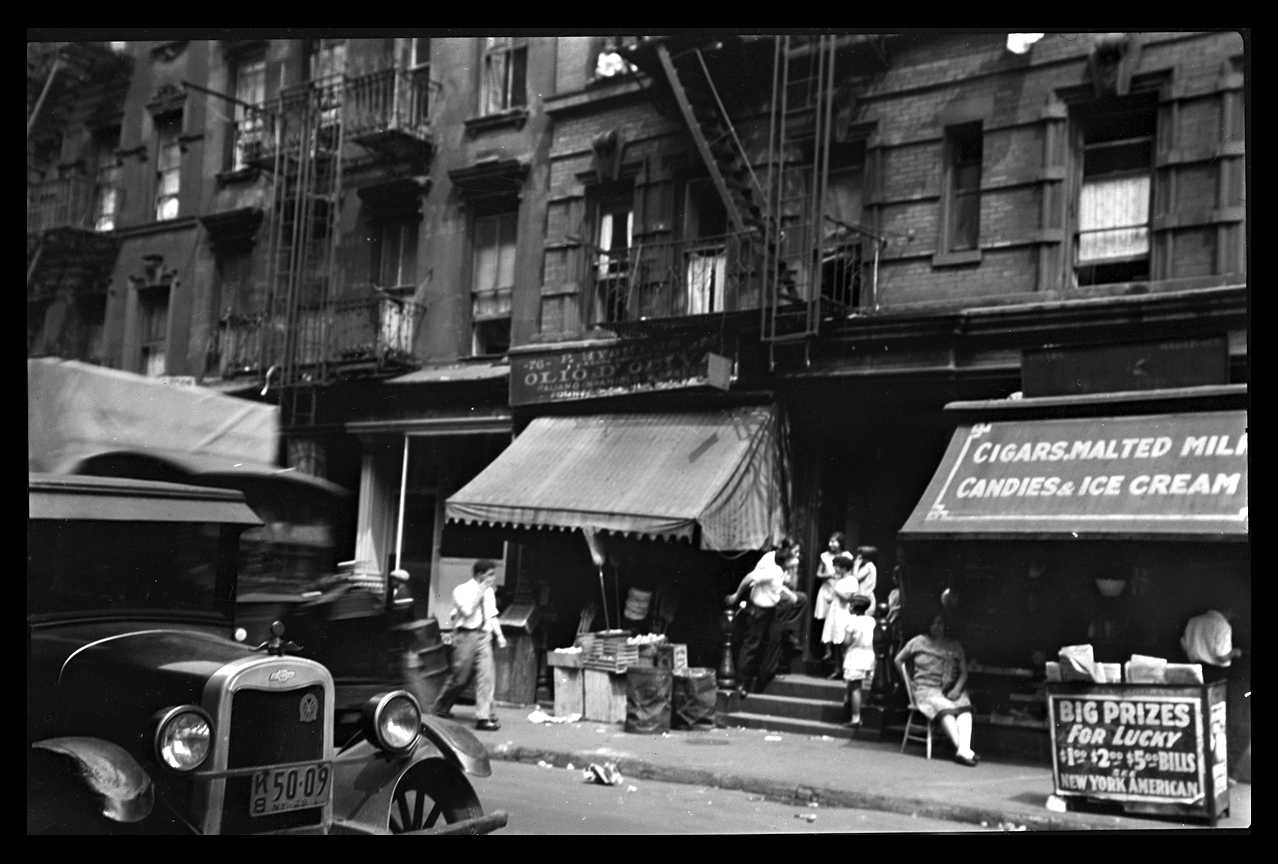 Vintage Chrystie St. Lower East Side NYC, c.1929 from original 4x5 negative