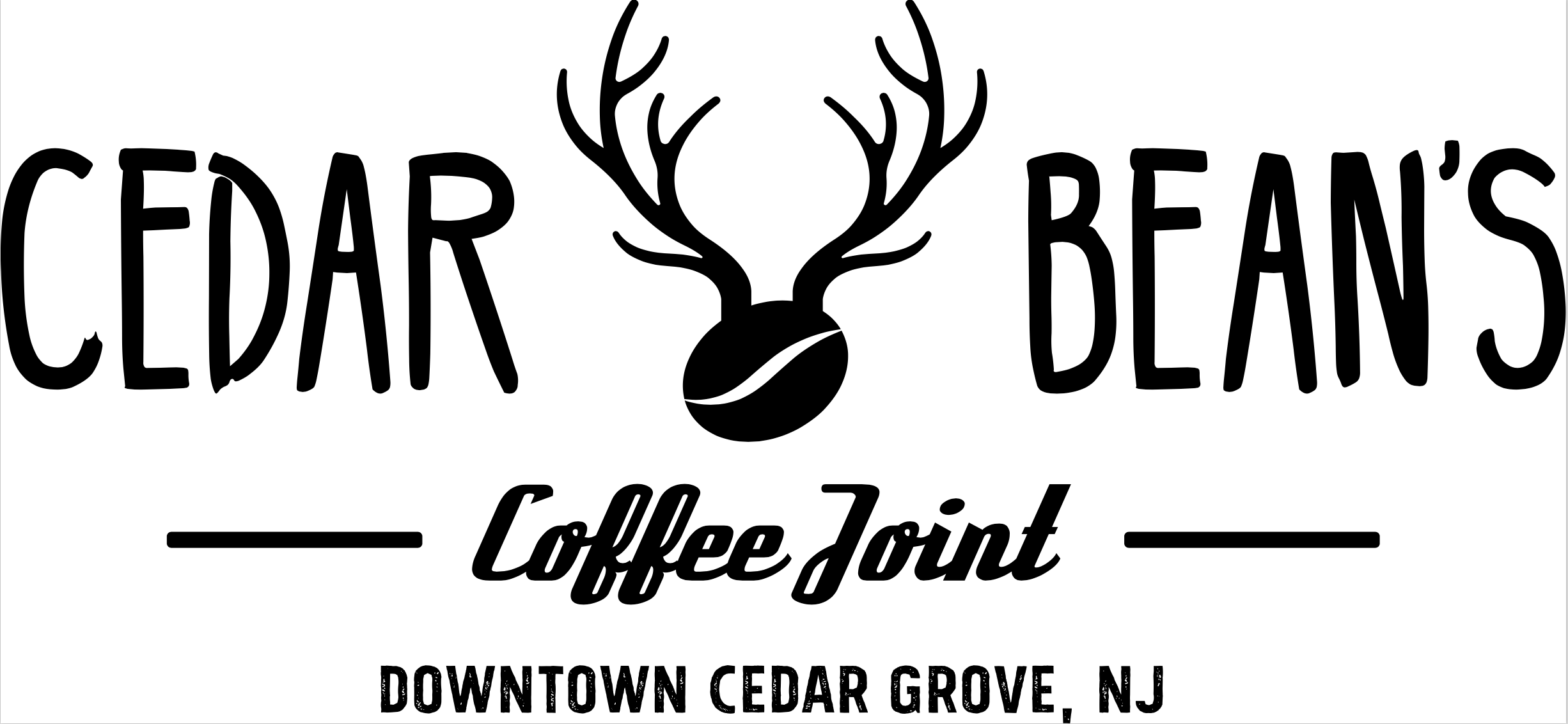 Cedar Bean's Coffee Joint, at 575 Pompton Avenue in Cedar Grove's downtown district is a spectacular small-batch coffee shop with freshly roasted, unique third-wave artisan coffee beans, triple-filtered nitro cold brews, as well as teas & drinks. Reclaimed wood accents and concrete countertops recall a vintage explorer's club or hunting lodge. We serve a selection of breakfast, lunches and snacks.