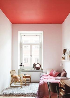 Même sur le plafond - Une nuance douce pour un côté cosy !