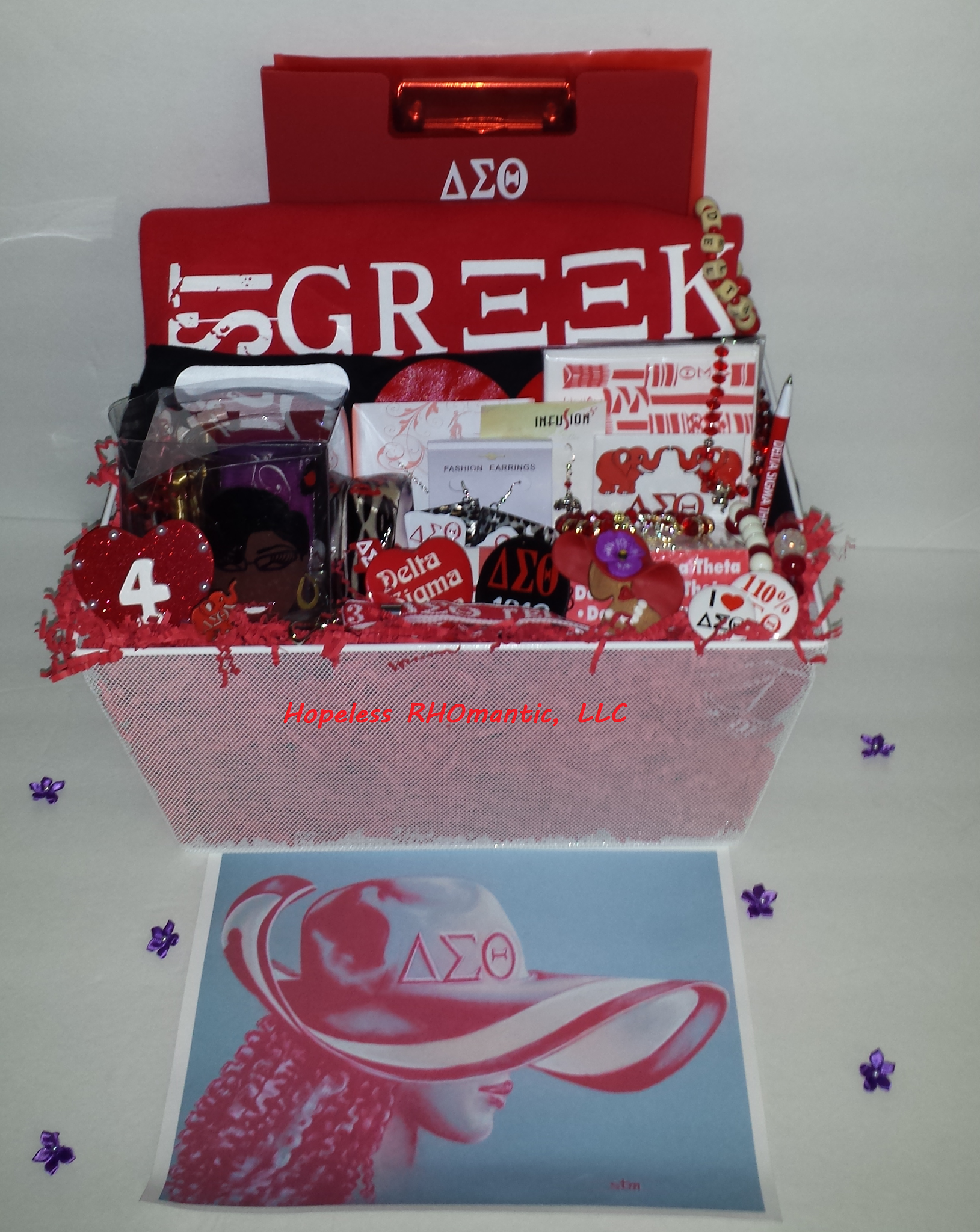 $225 Personalized Sorority Gift Baskets