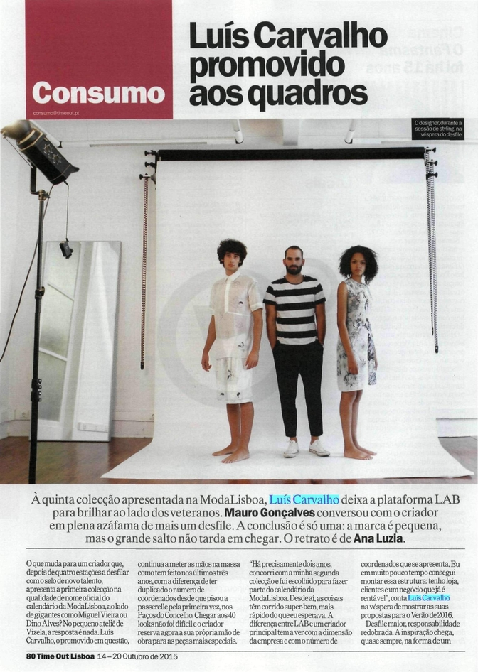 TIME OUT, Outubro 2015