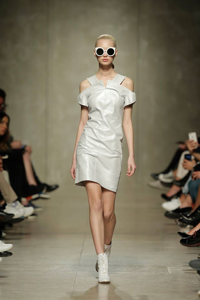 Leather White Dress   One available size 36 Original Price 582€ | Discount Price 291€ Ref. LCFW16S28   *Sunnies and boots are also available for sale