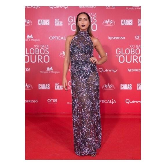 Débora Monteiro, Gala Globos Ouro, Maio 2017