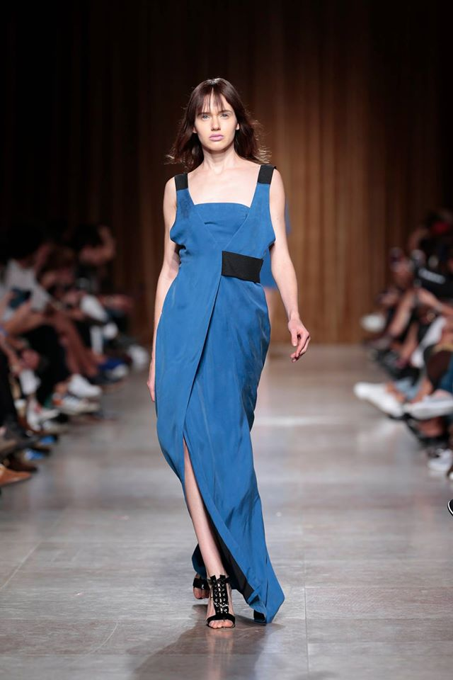 Long blue & black Dress   one available size 36 Original Price 445€   Discount Price 222€ Ref. LCSS16S29   *shoes are also available for sale