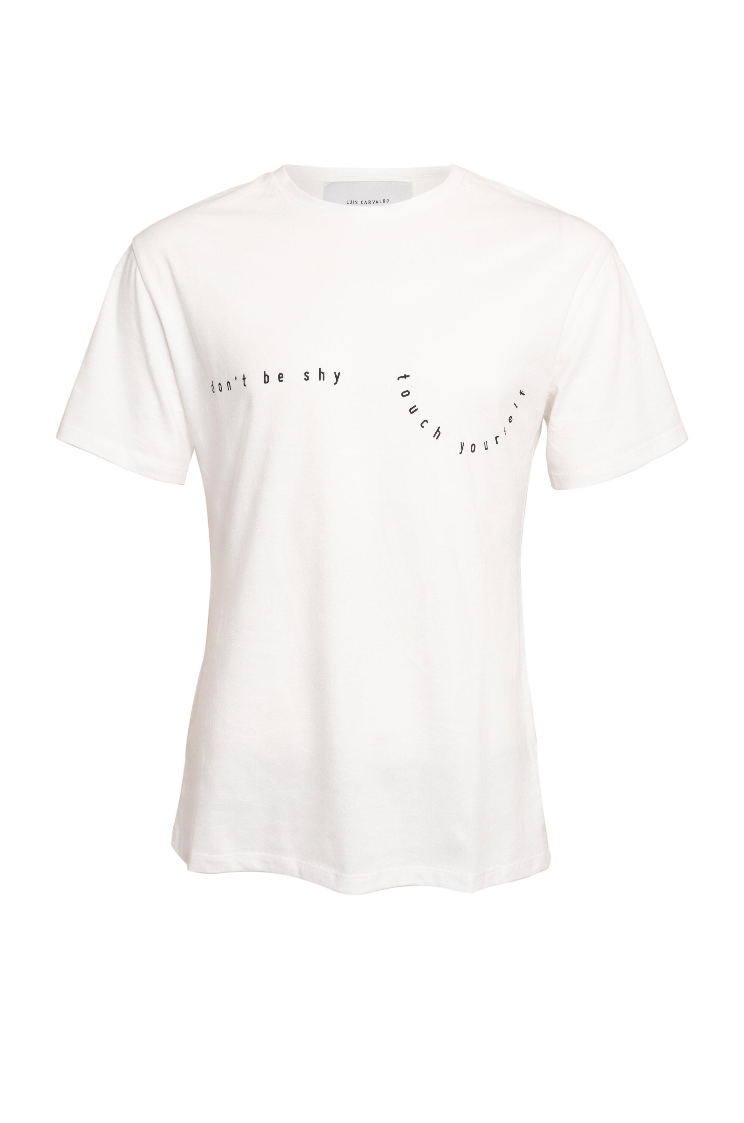 Resultado de imagem para T-shirt Don't Be Shy, Touch Yourself