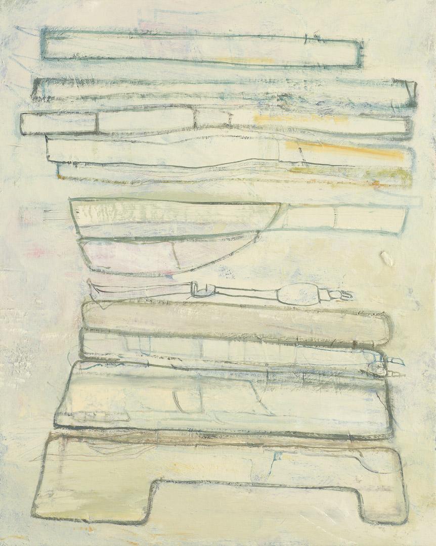 "Bed  2011  oil on linen  20"" x 16"""