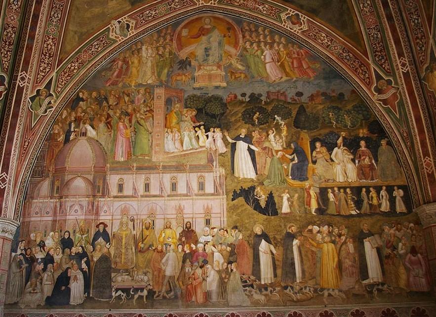 Andrea da Firenze Triumph of the Church c.1368 fresco