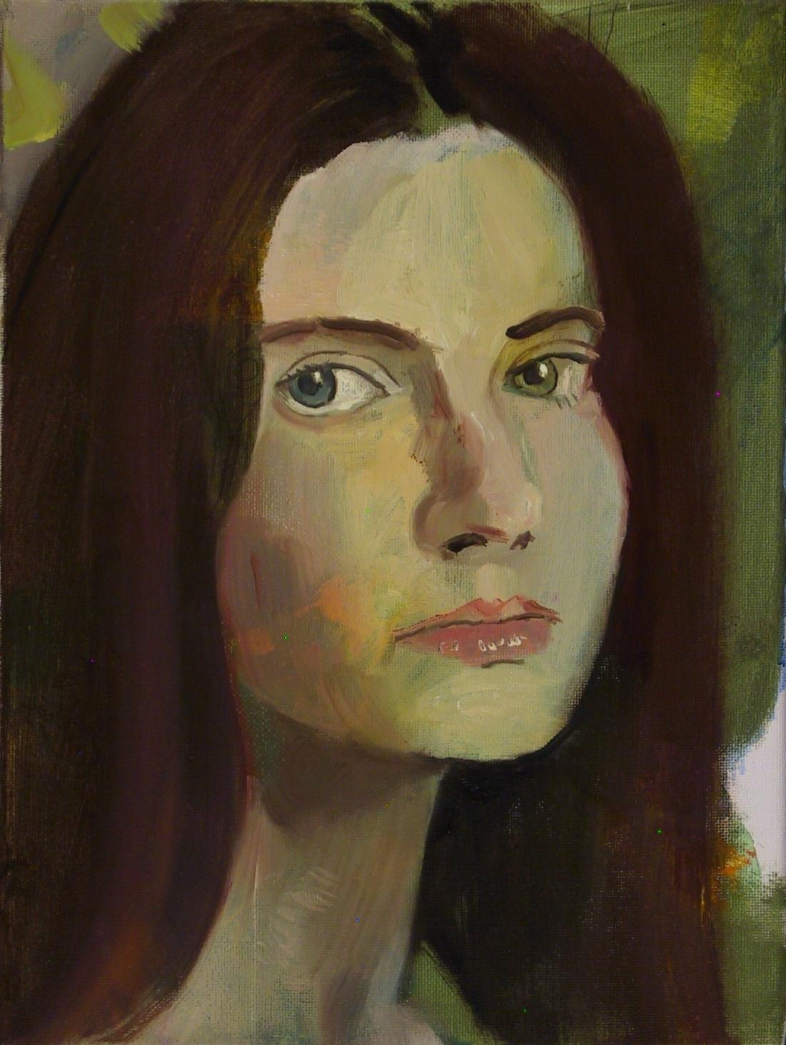 """Ann, My Anne  2018  oil on canvas  12"""" x 9"""""""