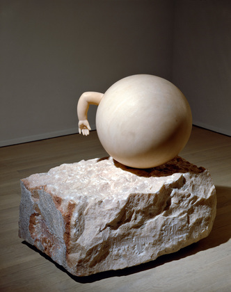 Louise Bourgeois Untitled (With Hand) 1989 pink marble