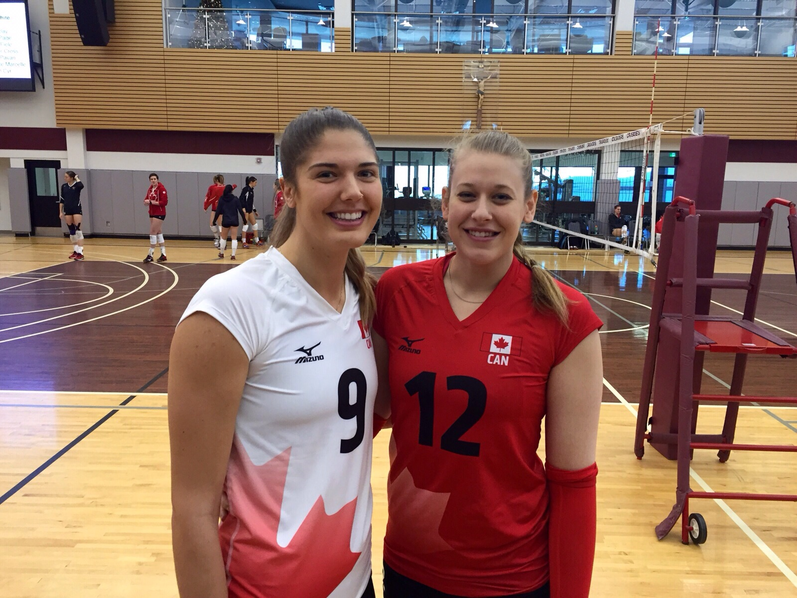 """I am really focused on helping Canada qualify for the Olympics in 4 years."" - Jen Cross (Right) with Canadian teammate Tabitha Love."