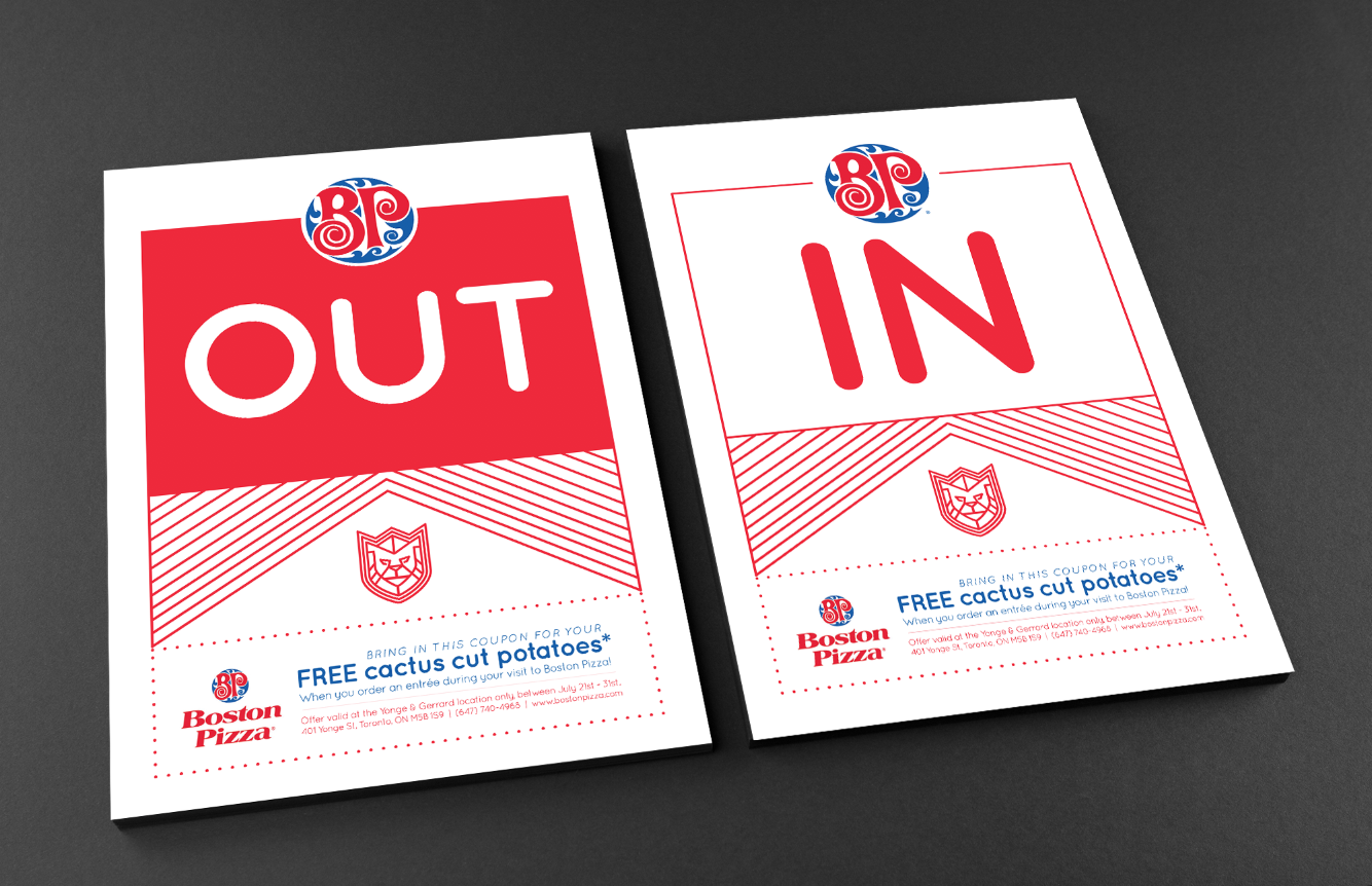 Sample IN / OUT cards for fans - see below for activations