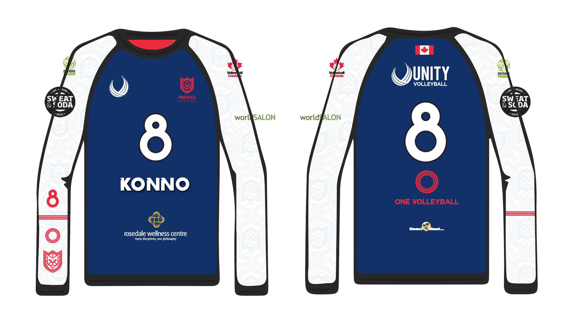Sample 2019 Jersey with sponsor logo placements