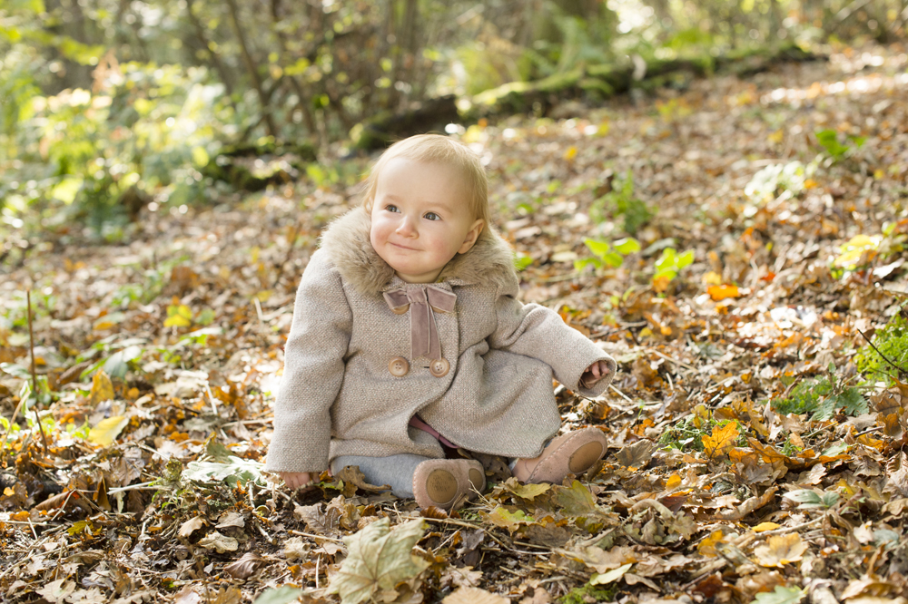 autumn baby portrait