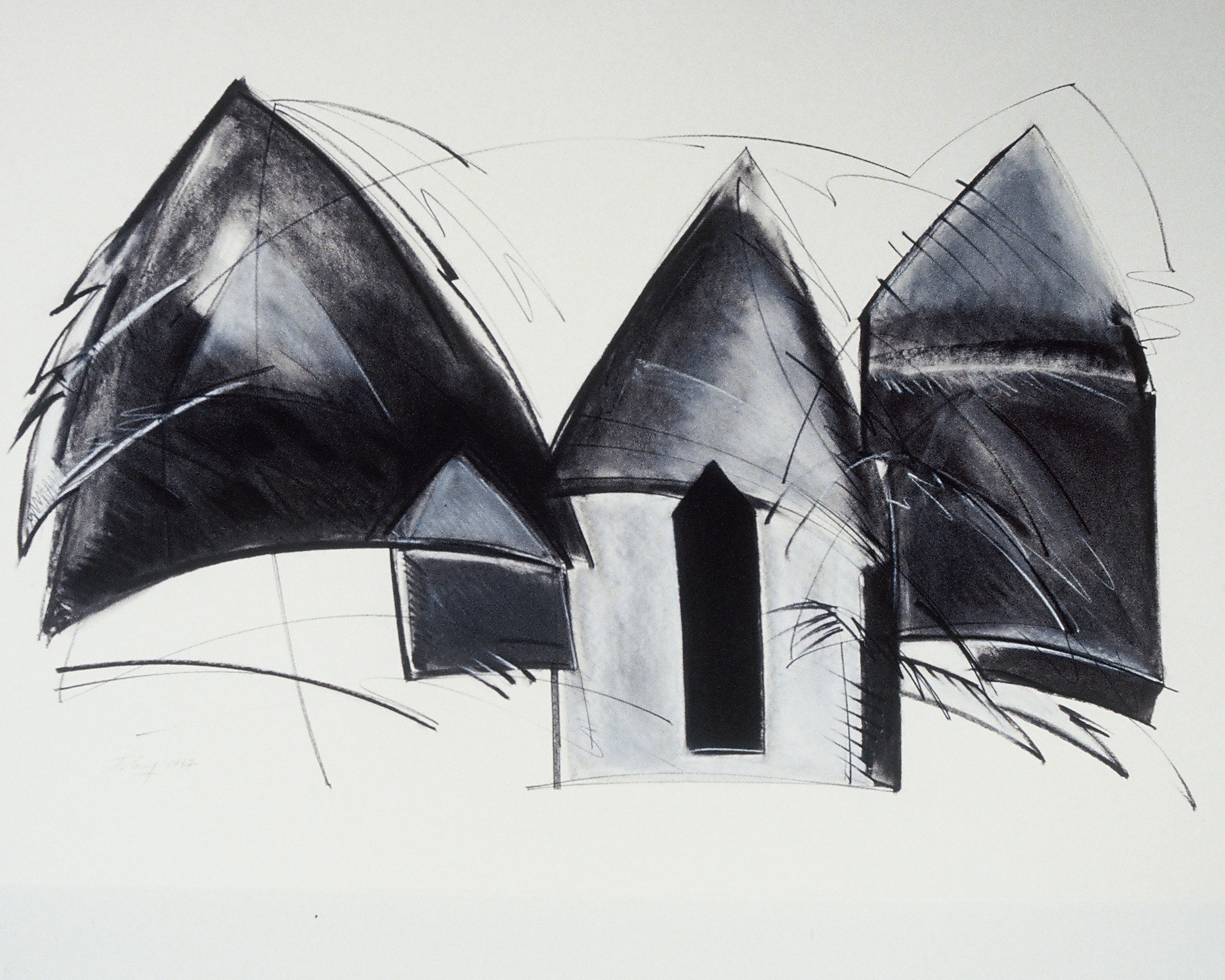 """""""Dwellings"""" Black and White"""