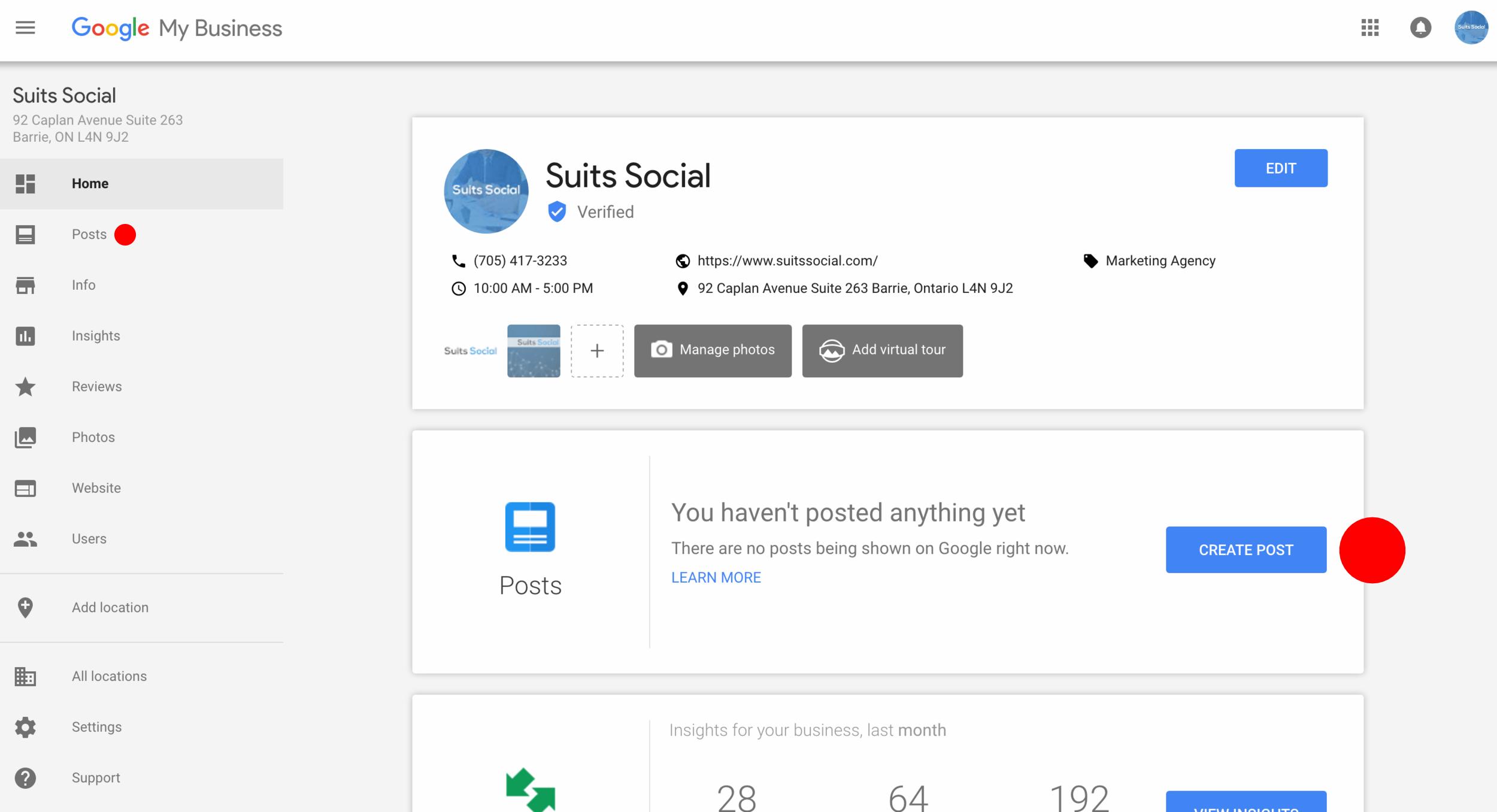 Google Post Setup