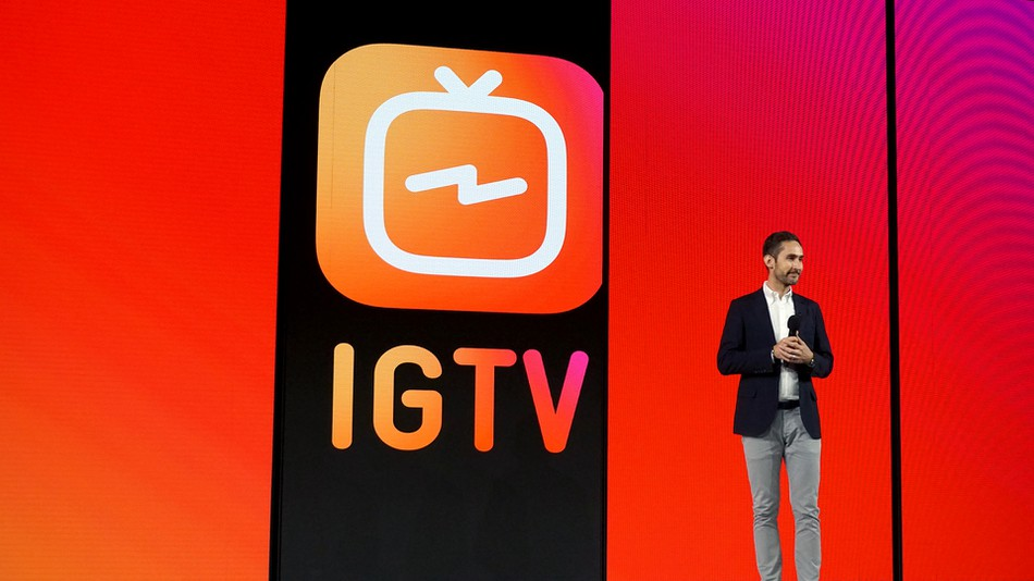The launching of IGTV in San Francisco last Wednesday.