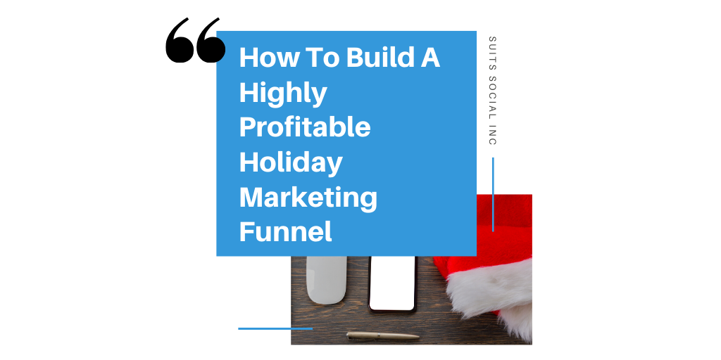 Marketing funnels are considerably effective during the holidays. They allow you to convert followers on social media to paying customers for your business. By creating a holiday marketing funnel for your business you will be able to assemble a customer's journey and turn them into long term returning buyers. Suits Socials CEO Darren Cabral breaks down the three major components to creating a successful holiday marketing funnel and reveals why lead gens are crucial to your business's success in building a solid holiday marketing campaign.