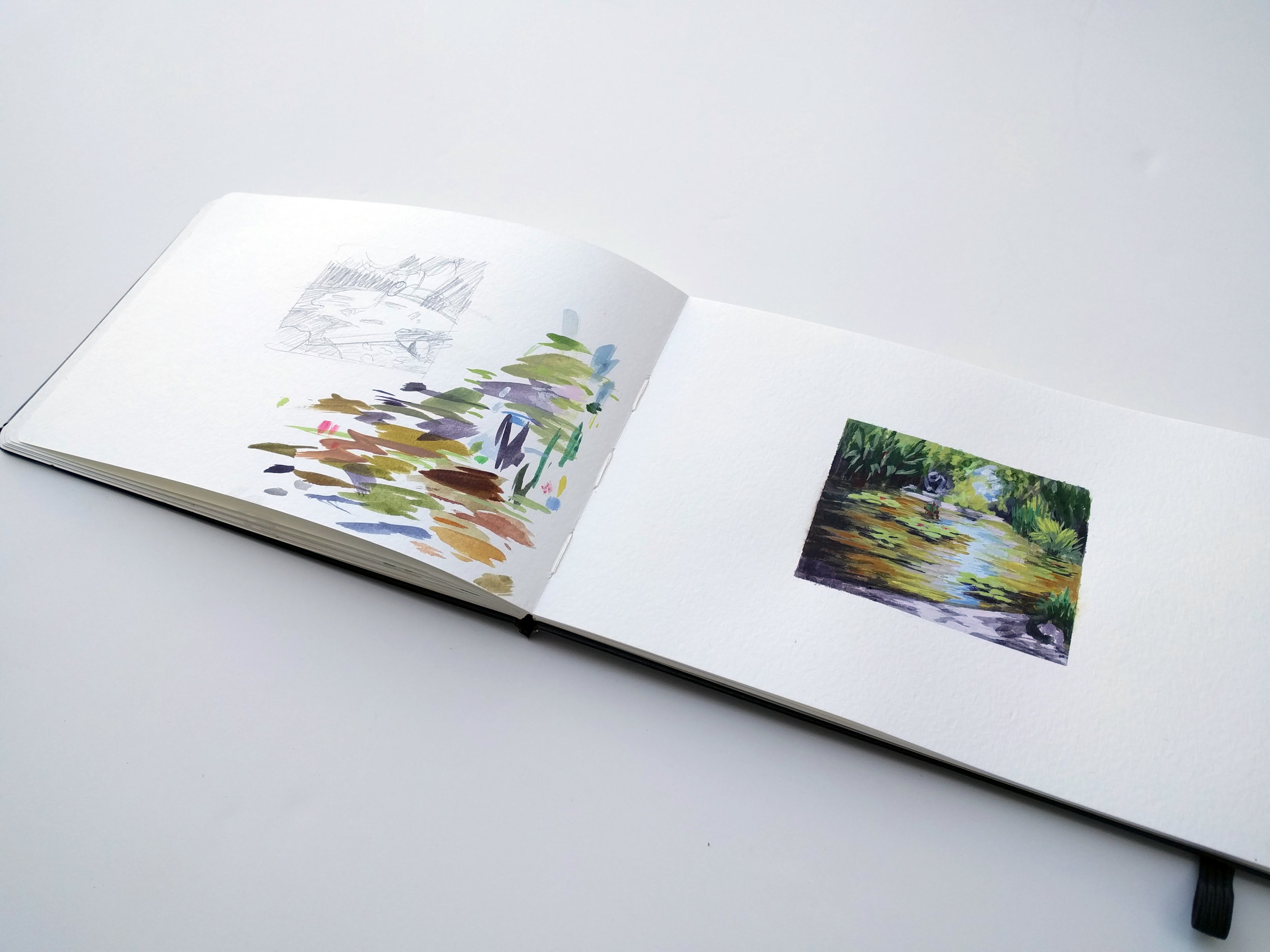 Sketchbook painting by My Small paintings at The Huntington Gardens