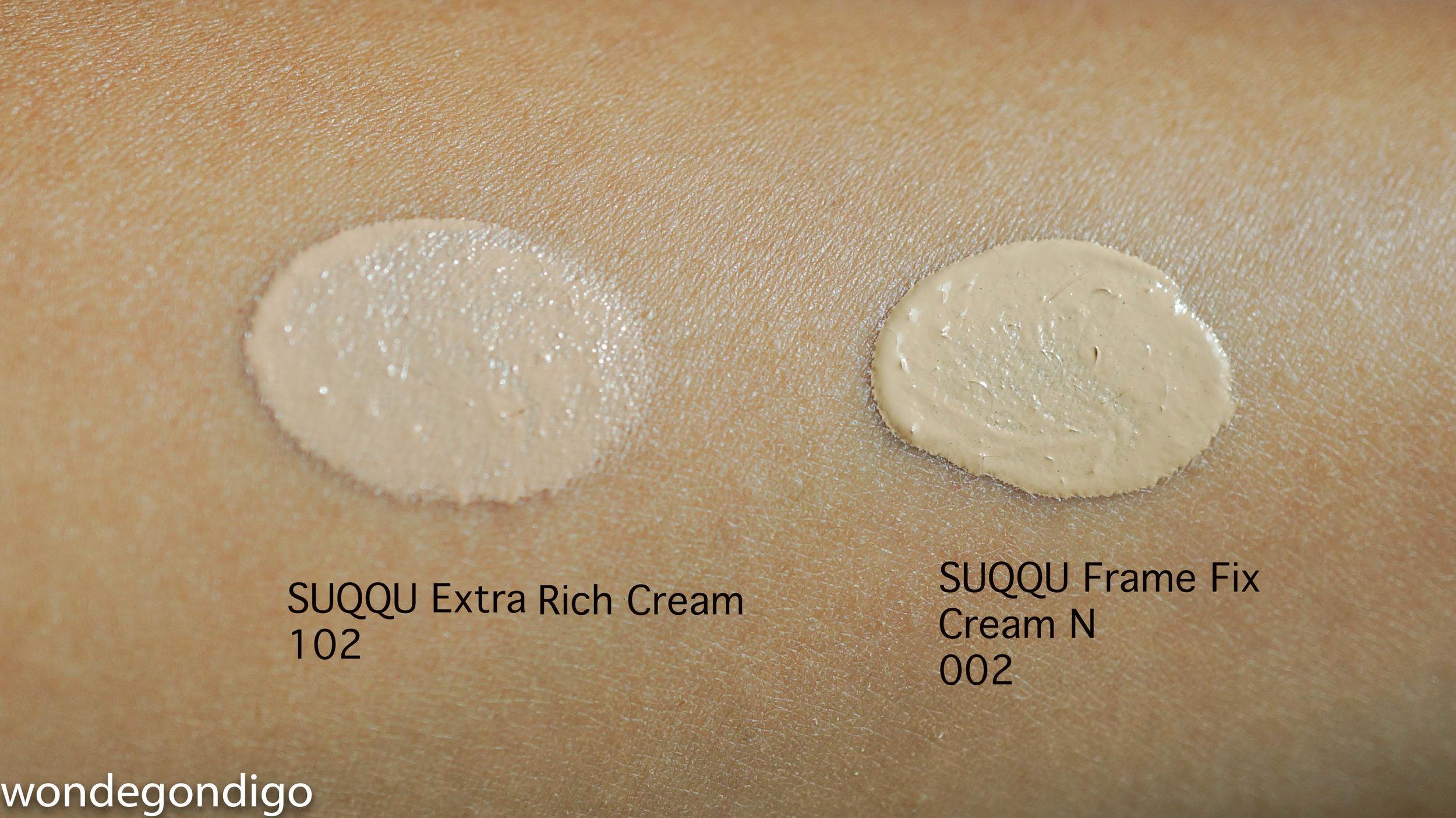 SUQQU Extra Rich Cream Foundation Shade 102 & SUQQU FFCN Foundation Shade 002