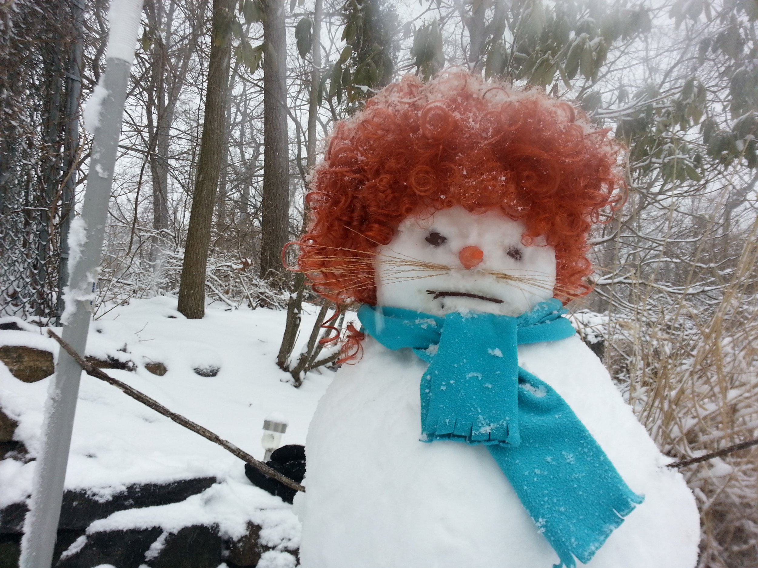 belly snow woman