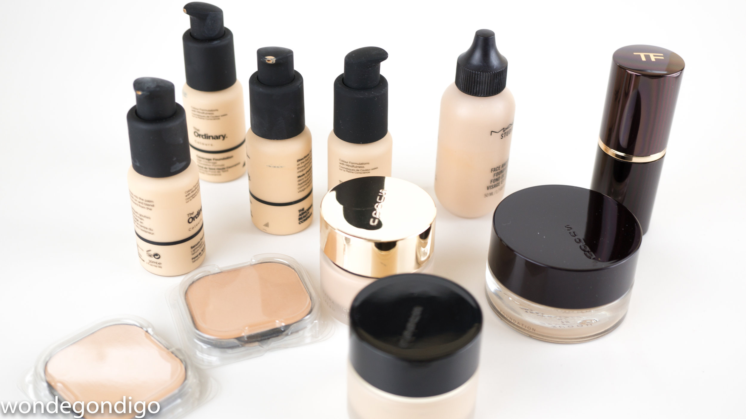 I've been culling my foundation over the recent year or so (except now for this crazy explosion of The Ordinary ones) that I'm down to a handful of favorite. (I do admit I may have backups of several of these foundation. :) )