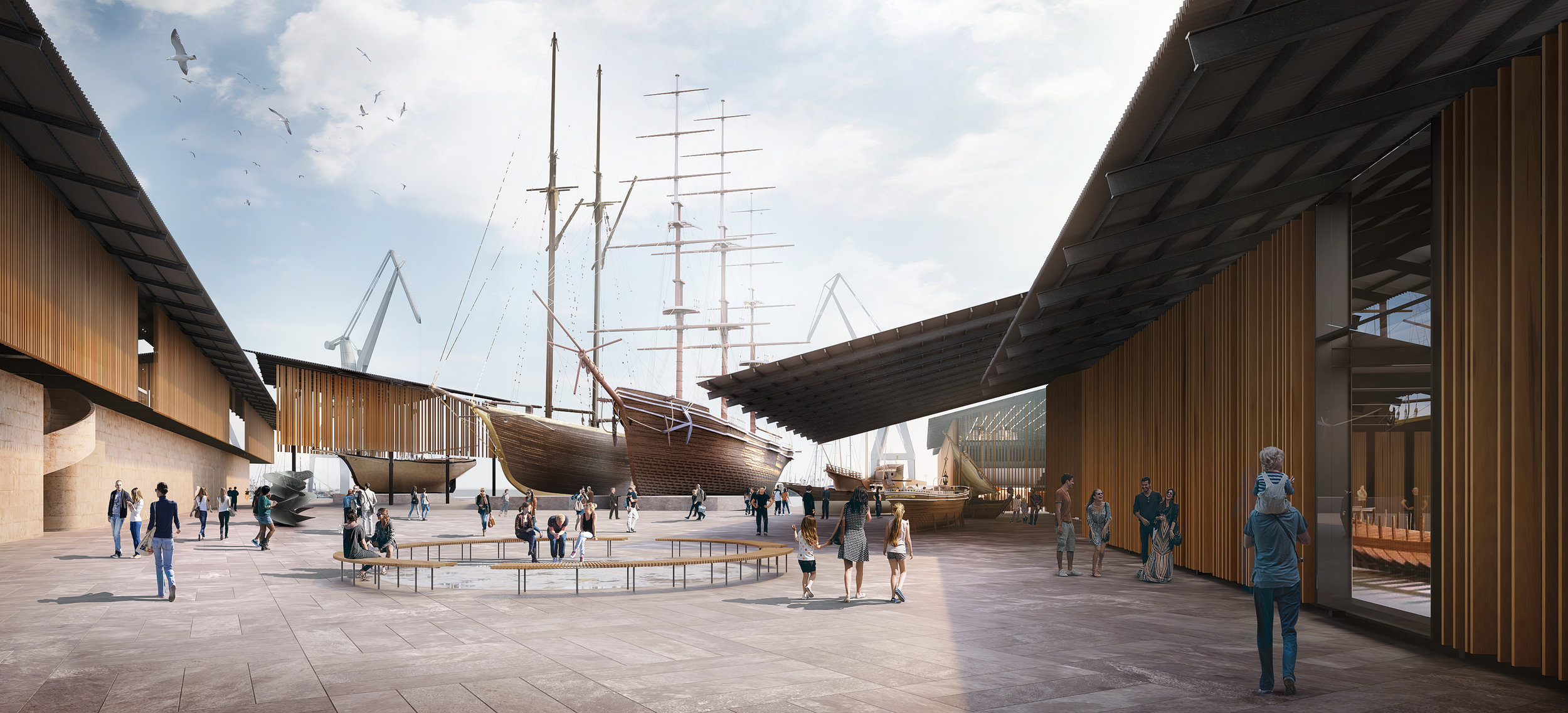 Patio del Museo Marítimo de Mallorca
