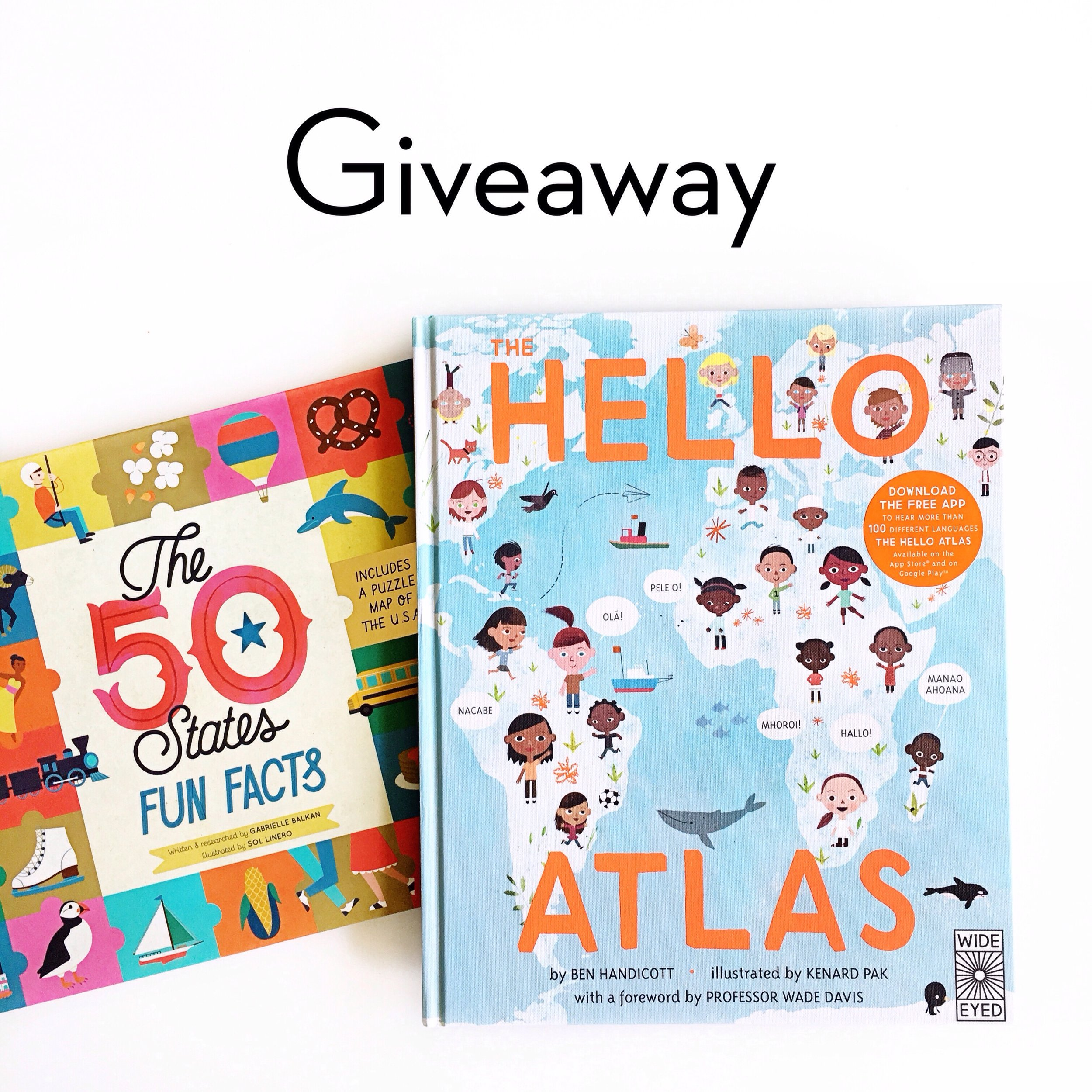 The Hello Atlas and The 50 States: Fun Facts   Little Lit Book Series