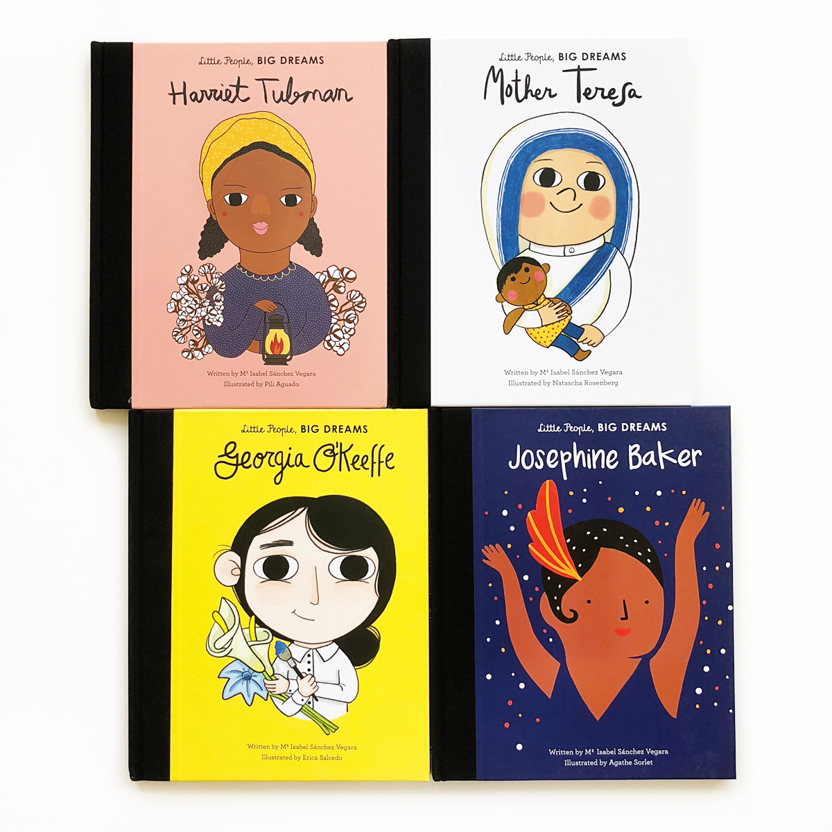Little People, Big Dreams: Harriet Tubman, Mother Theresa, Georgia O'Keeffe and Josephine Baker   Little Lit Book Series