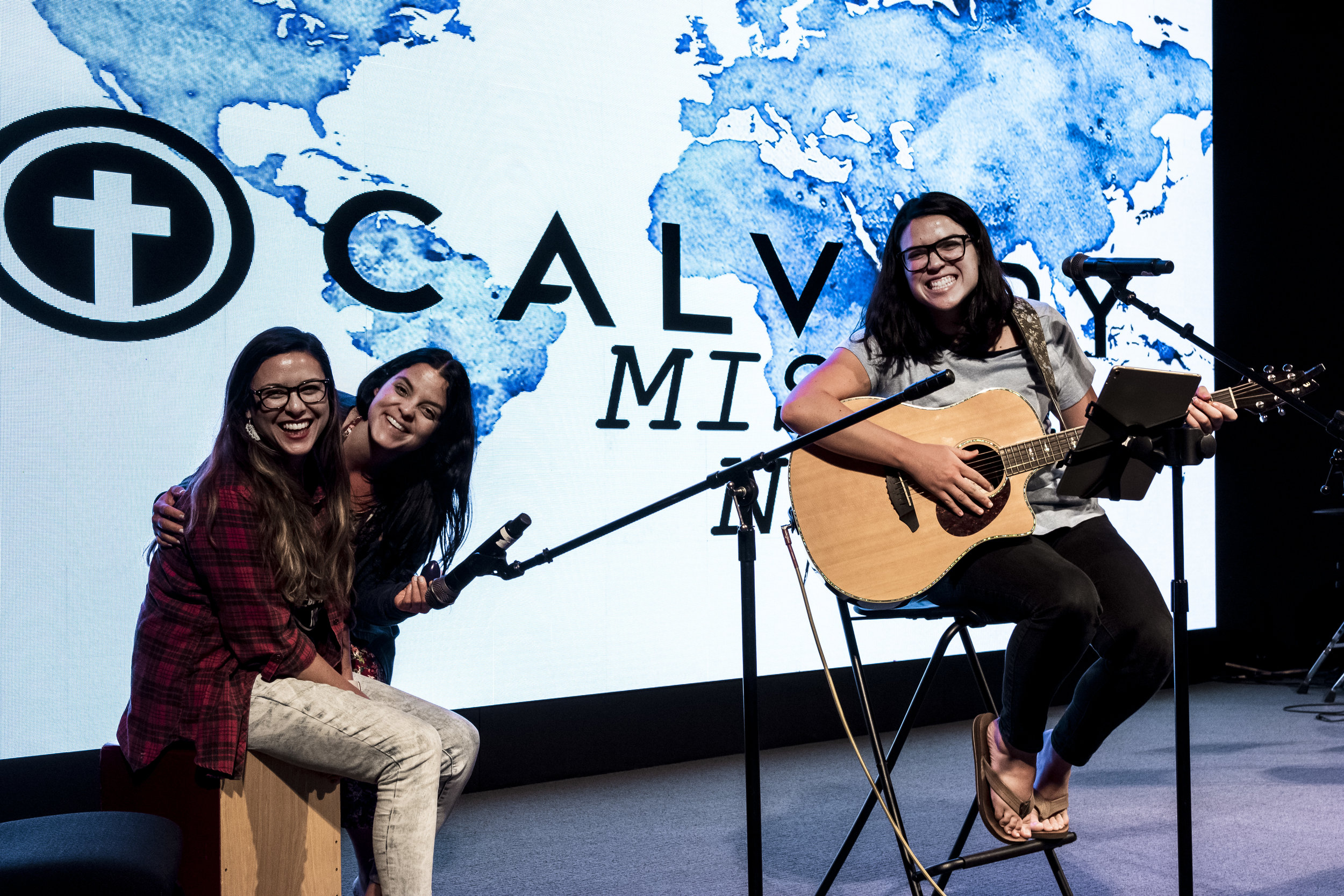 Not only were we blessed with the opportunity to hear from our missionaries, but we were also blessed with a sweet time of worship by 2 of Pastor Gary's daughters, Courtney and Elizabeth and our Women's Worship Leader, Christina!