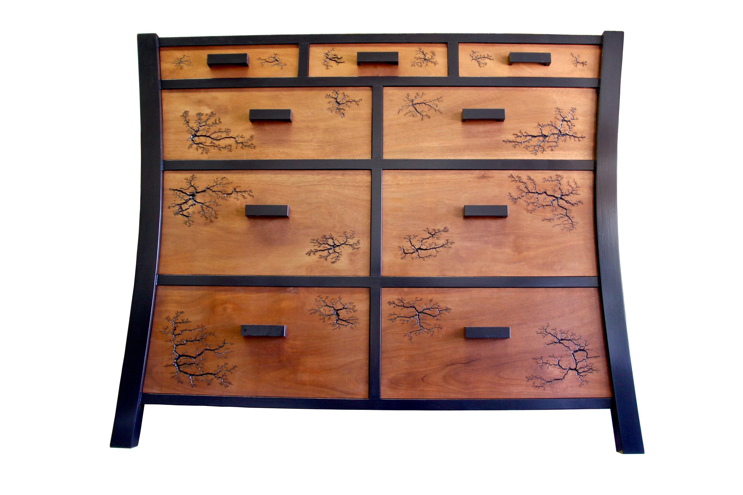 Tansu Dresser - with Lichtenberg Figures