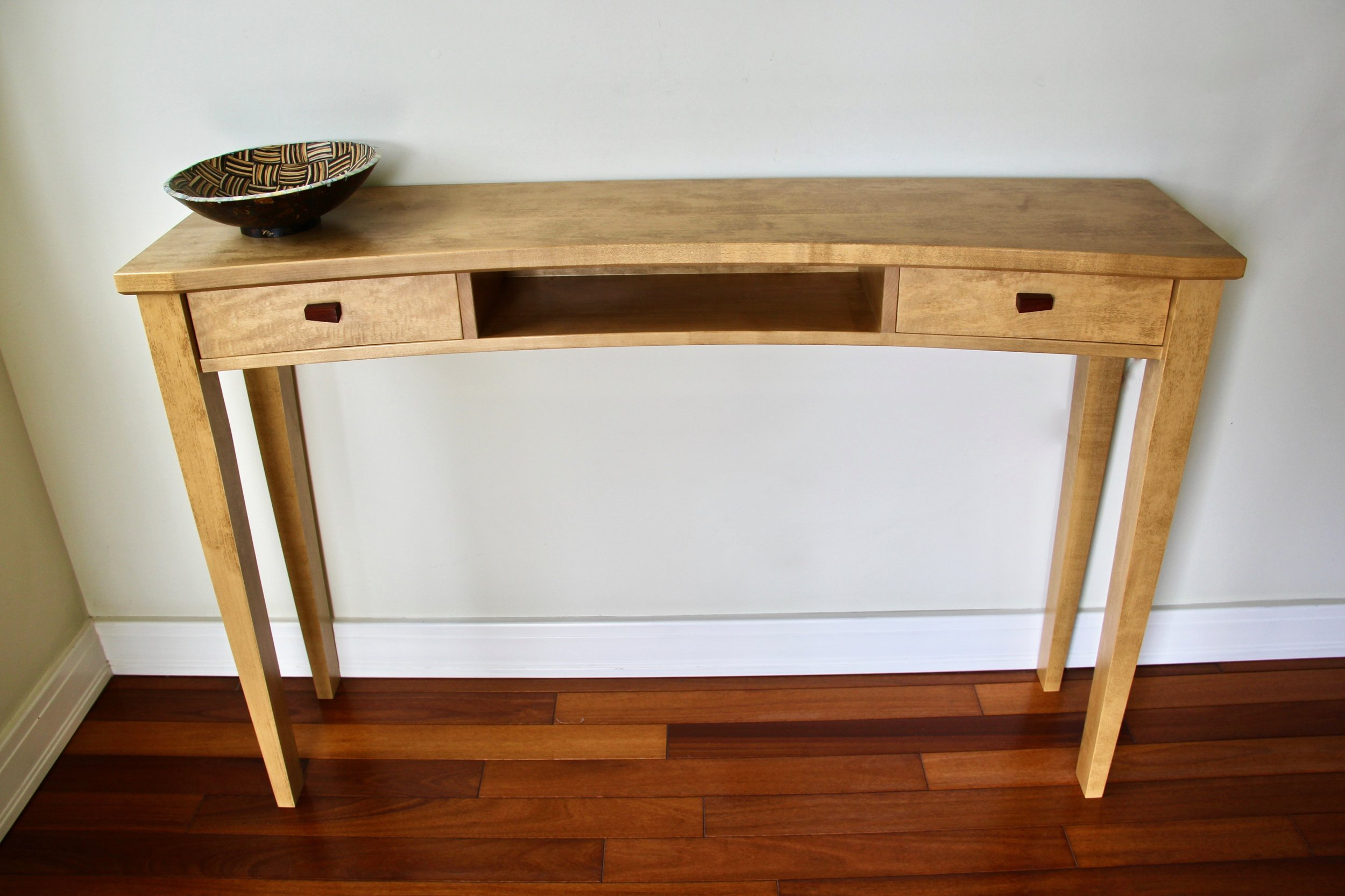 Arc Console Table - with Bloodwood Pulls