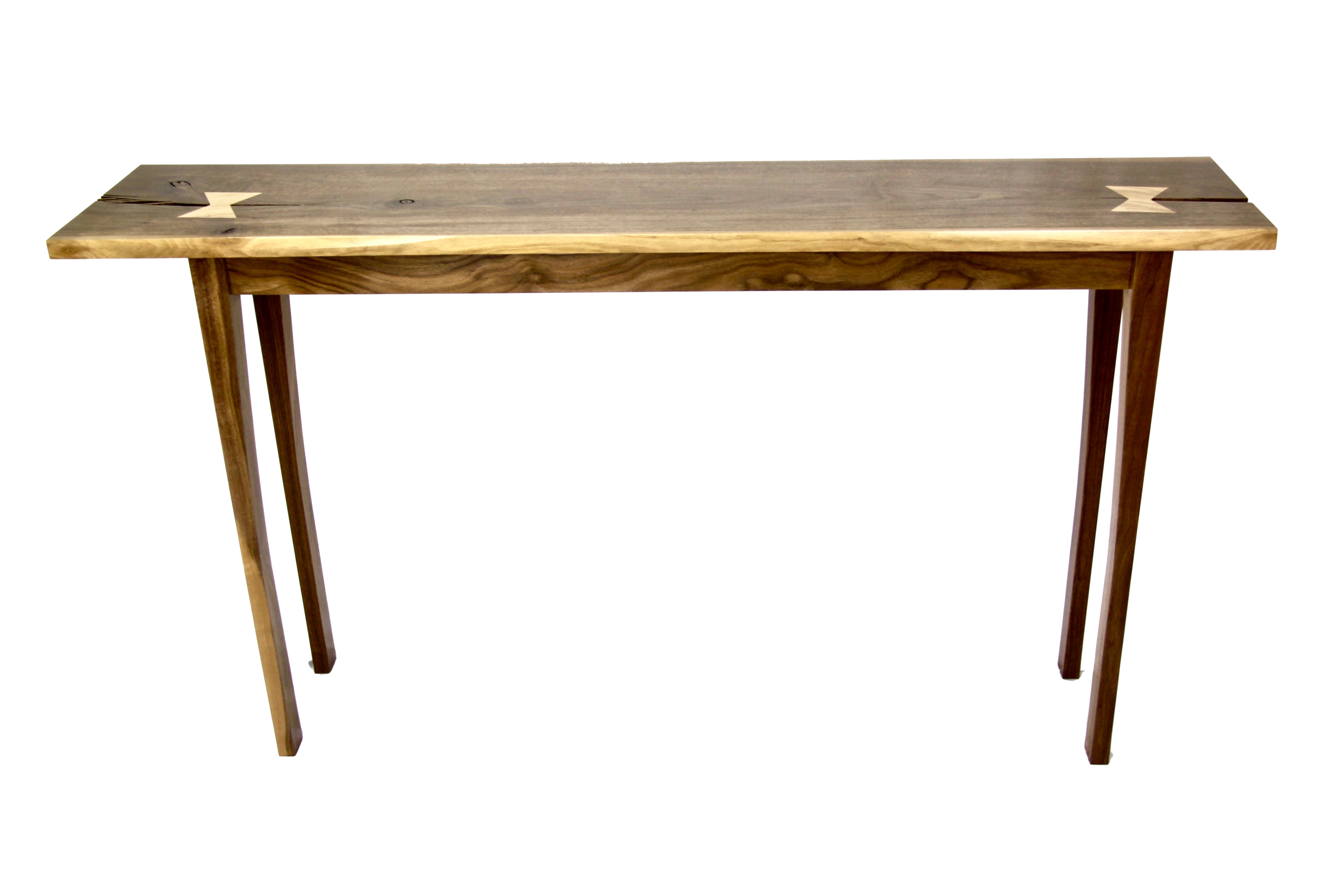 Butterfly table - with Tiger Maple Butterfly Tenons (available for purchase in our online shop or at our workshop)