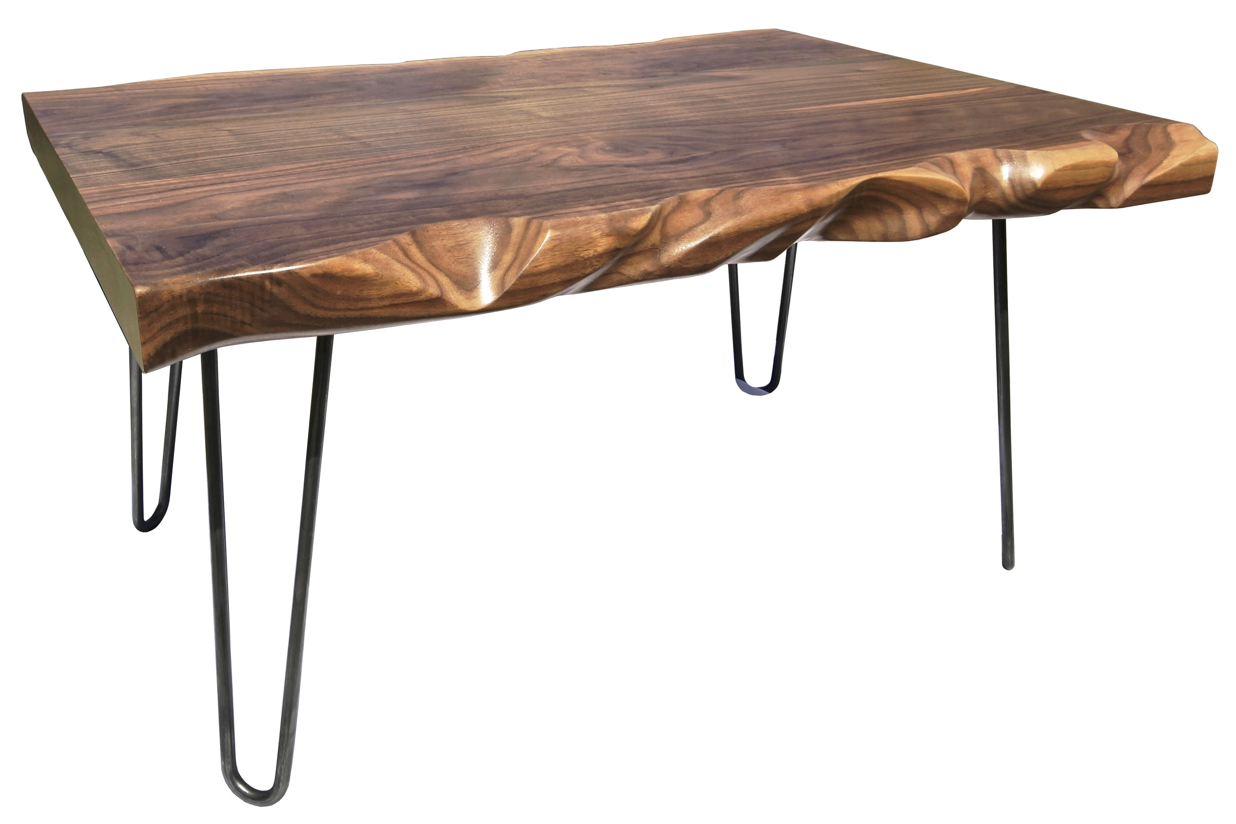carver TABLE - with Steel Hairpin Legs
