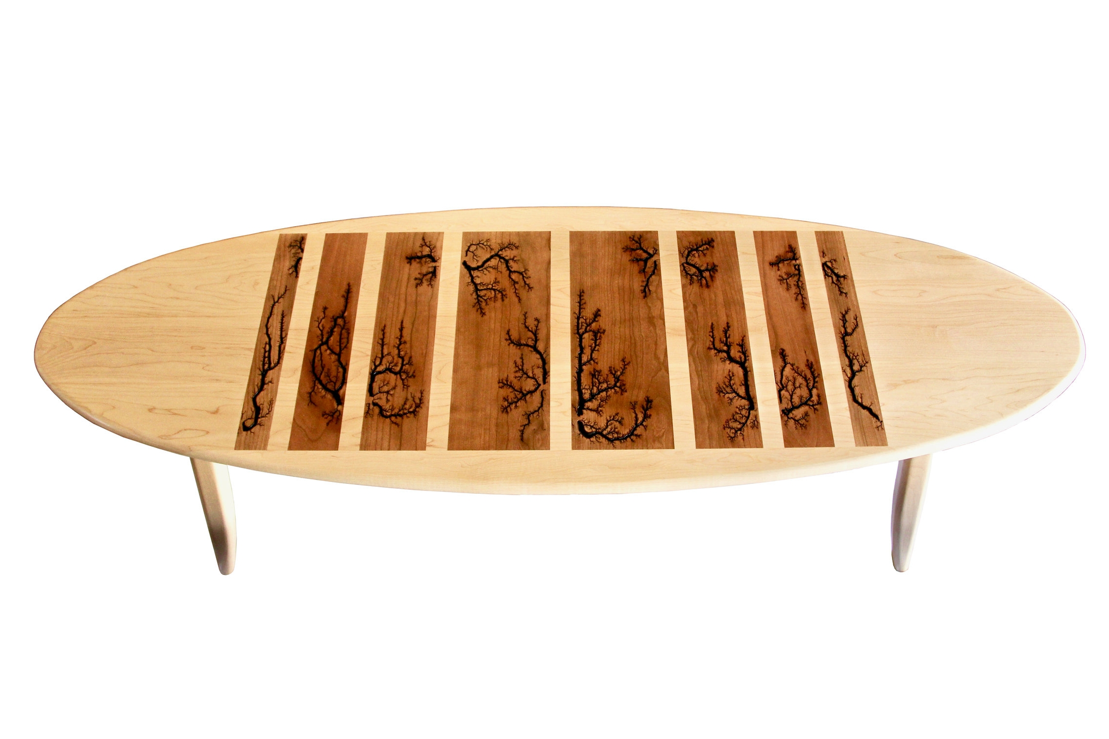 thunderbolt table - with Lichtenberg Figures (available for purchase in our online shop or at our workshop)