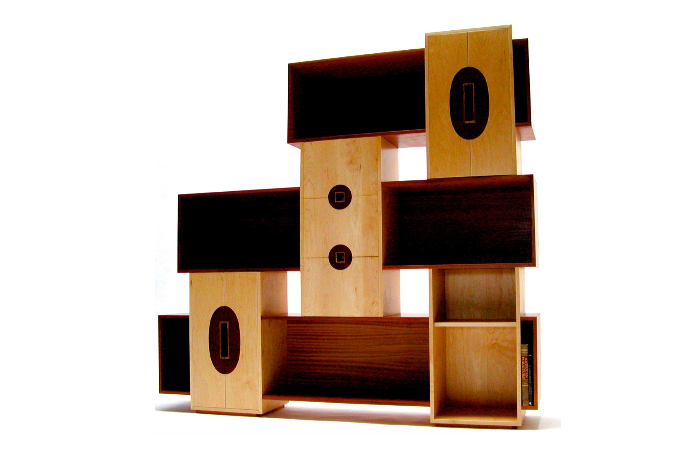 tansu cabinet case - with Zebrawood Inlays