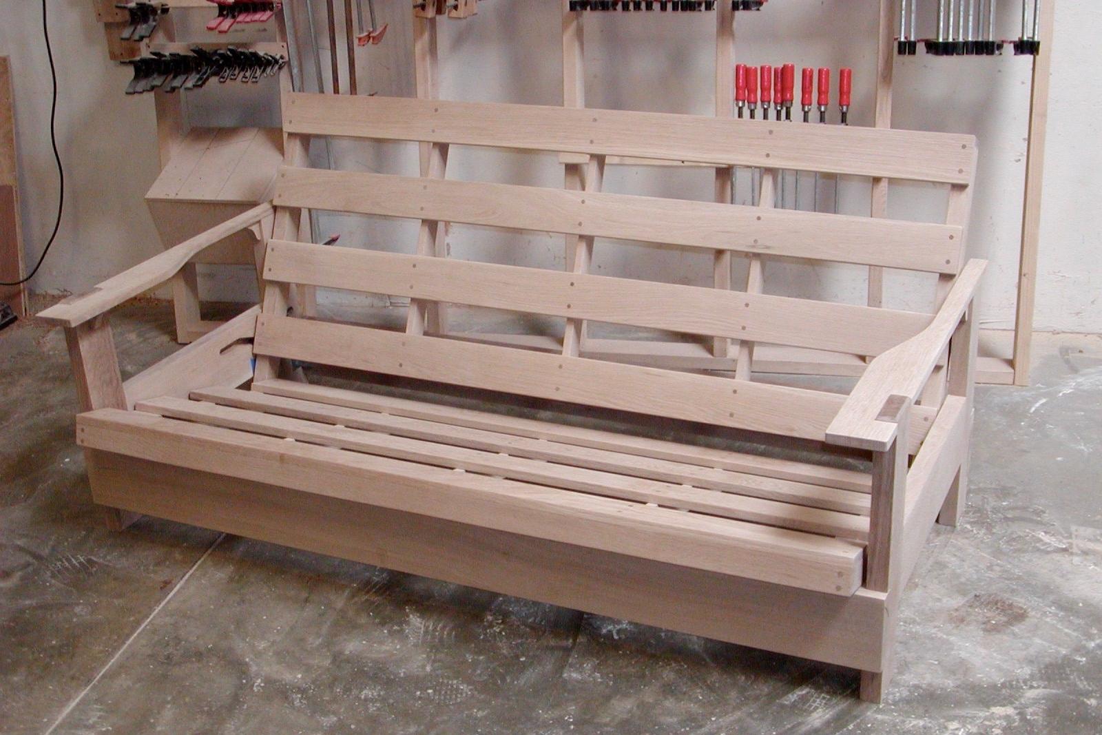 shaker style futon - in fumed Red Oak