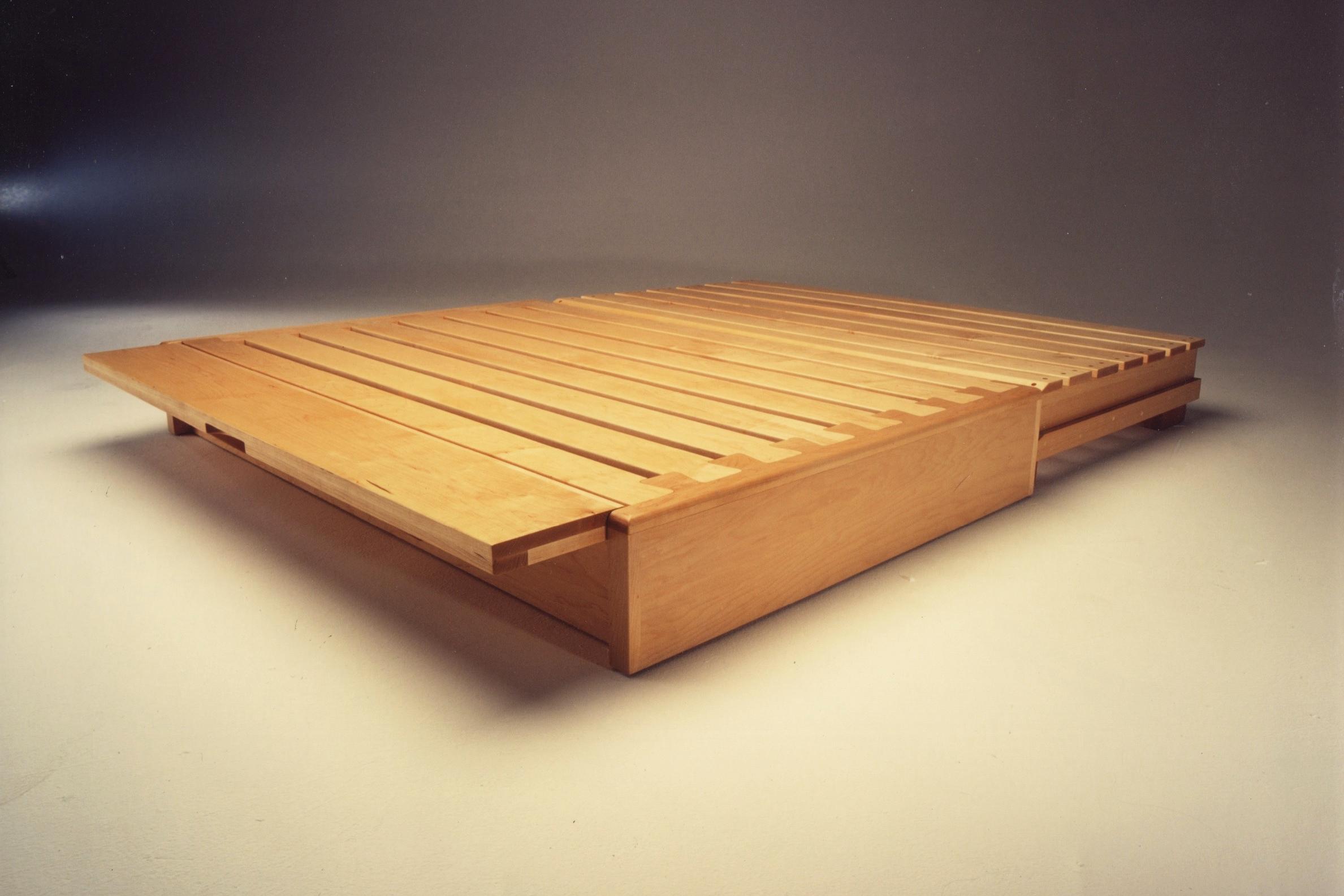 japanese platform bed - custom designed conversion mechanism