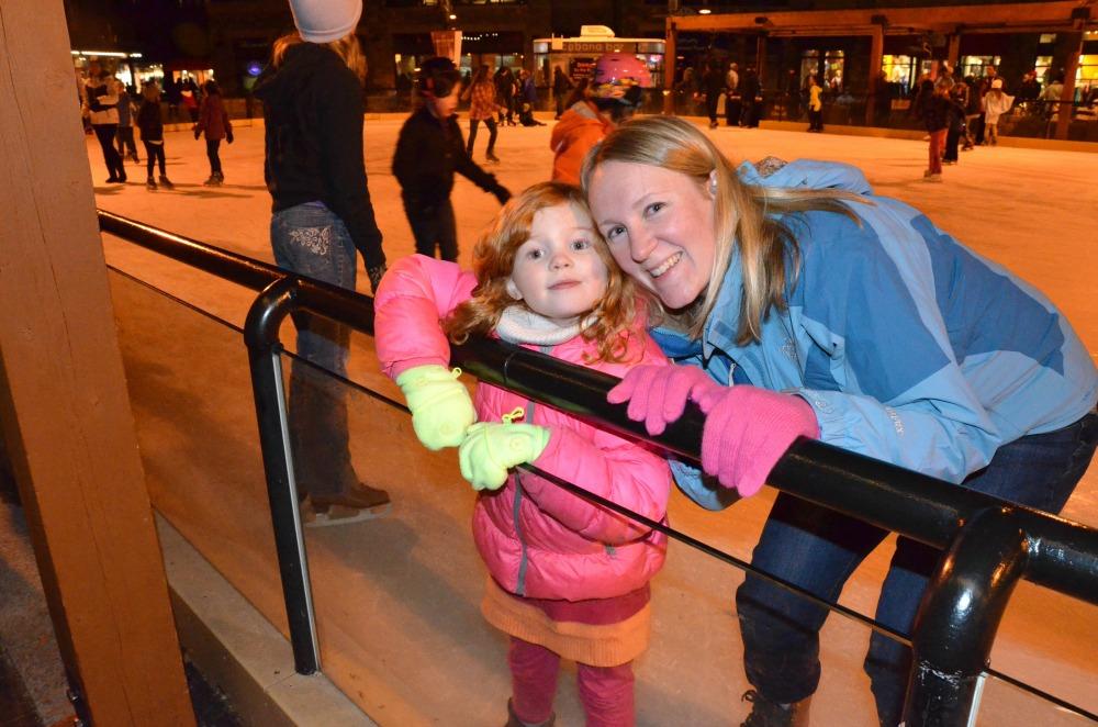 Mother Daughter Ice Skating Break