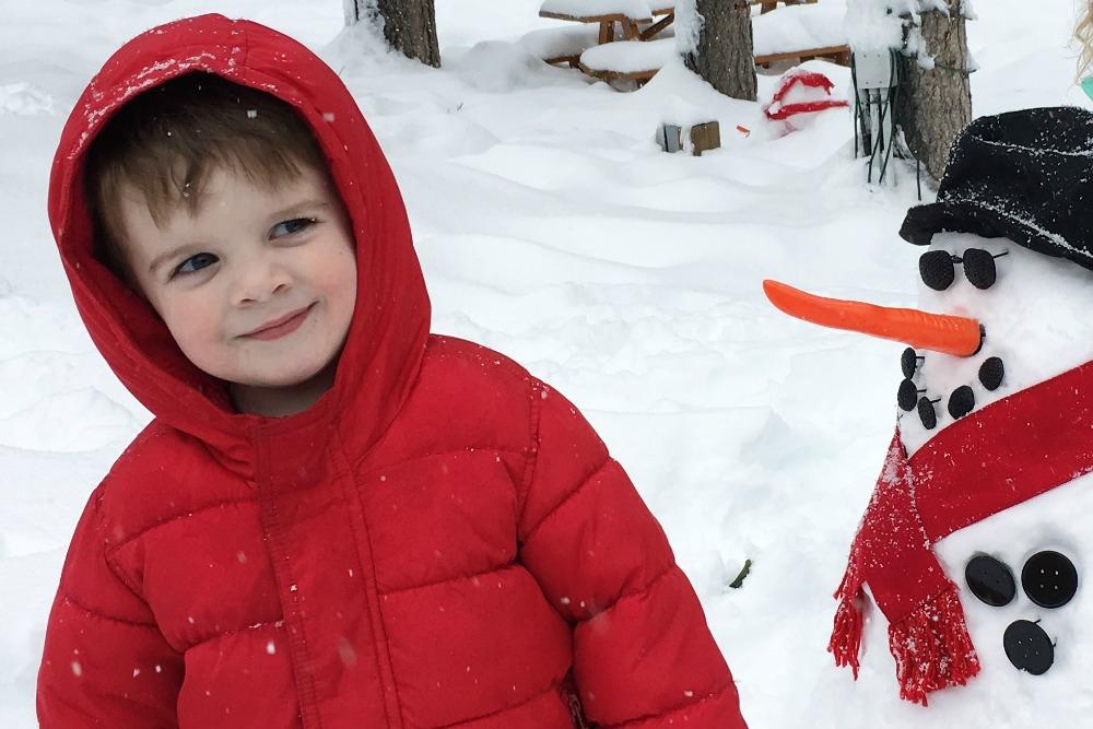 Toddler snow play at the Ritz-Carlton Lake Tahoe.