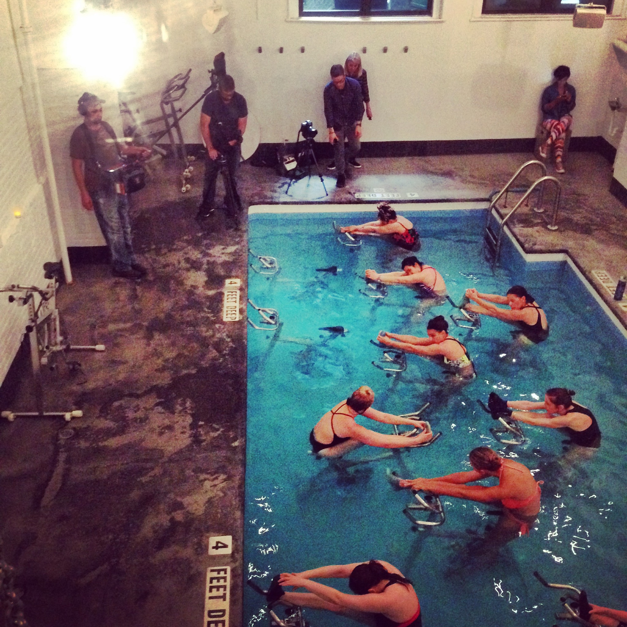 IN THE NEWS : My work as an Aquacyling trainer was featured in the Today Show, Tennis Channel, Reach MD, YogaCity, Rate Your Burn. Full articles featured  here .
