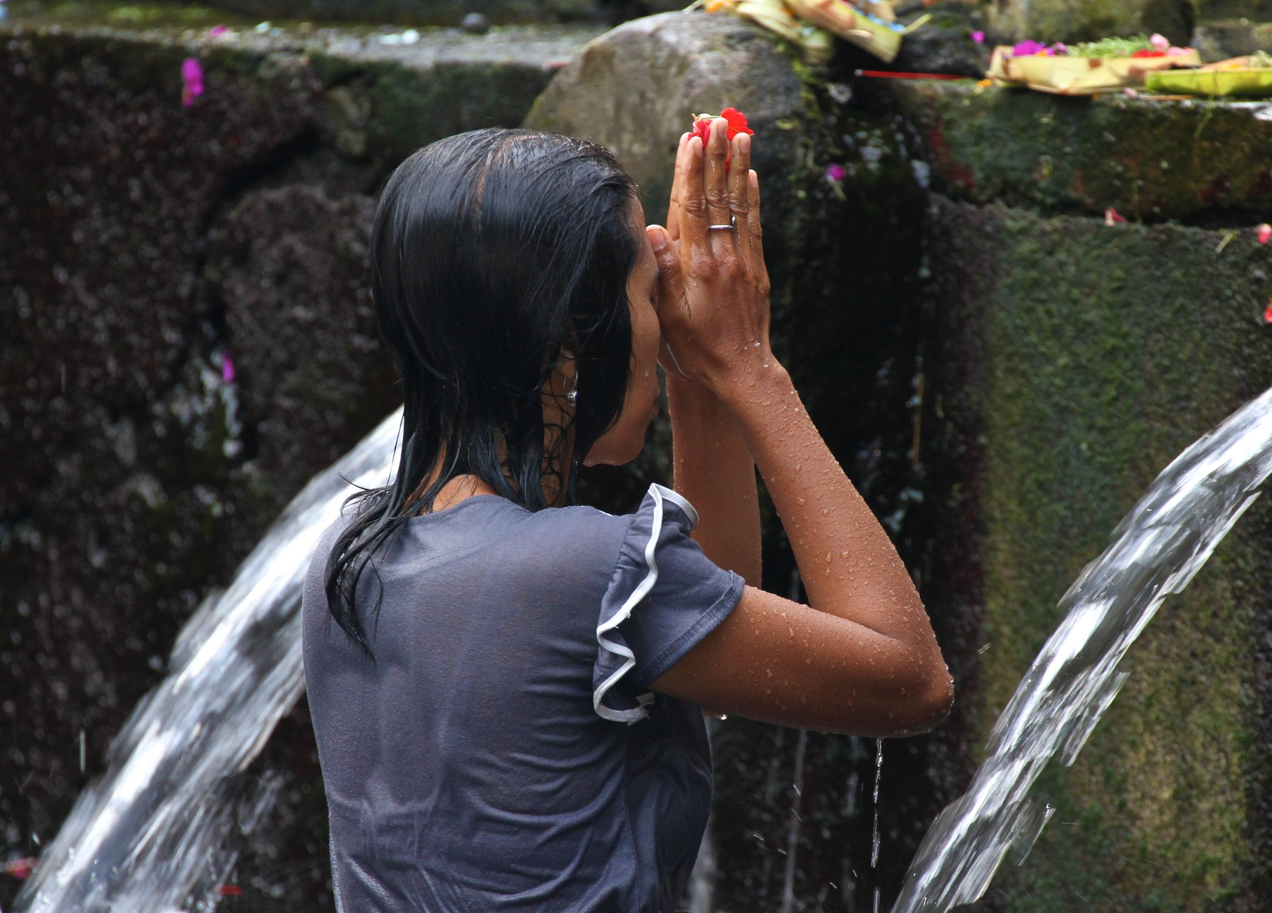 Ritual and Prayer in Water  In Bali, there are sacred cites where prayer is done in and to the water.  I want to partake and capture these precious moments. Bali  In conversations    JOIN