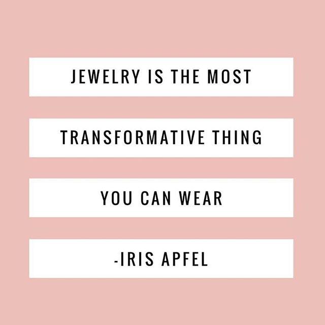 Words of wisdom from a true style icon @iris.apfel. #showushowushowitsdone #jewelrygenius #styleicon