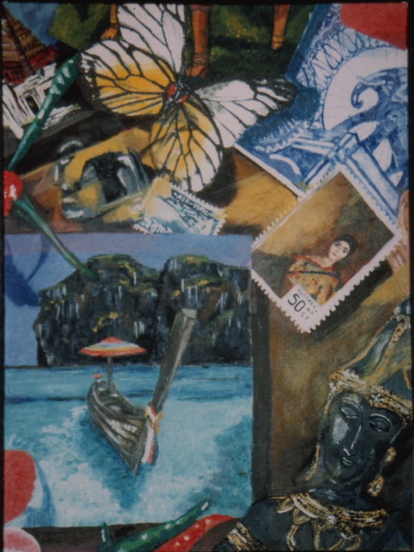Collage, Acrylic, 1992
