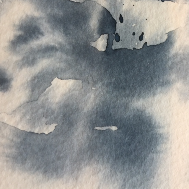 Paint Splatter onto Wet Paper