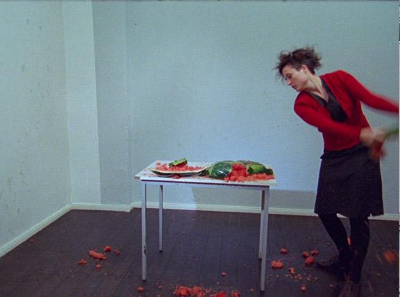 Alicia Frankovich, Body and Melon, 2010, 16mm film projection (10:43min).www.aliciafrankovich.com < http://www.aliciafrankovich.com > via Gertrude Contemporary.