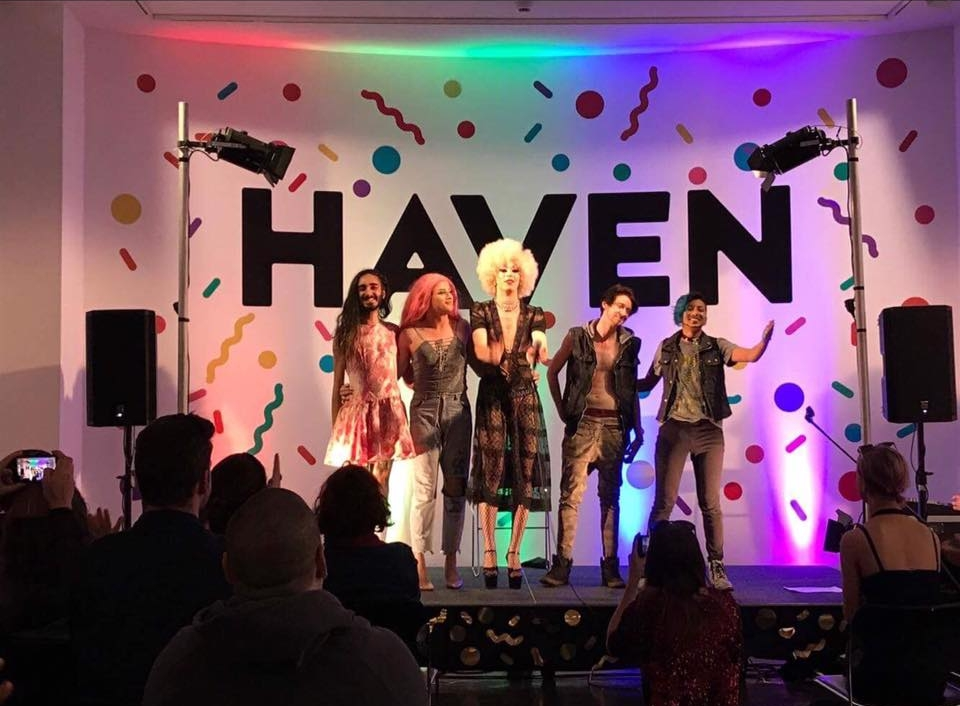 Performers on the HAVEN stage